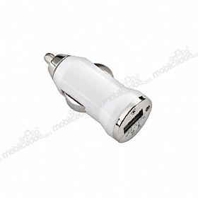 USB Beyaz Araç Şarj Aleti