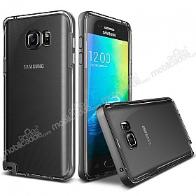 Verus Crystal Bumper Samsung Galaxy Note 5 Steel Silver Kılıf