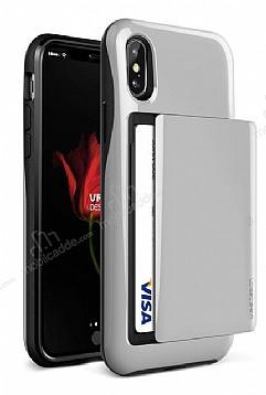 VRS Design Damda Glide iPhone X Silver Kılıf