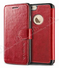 Verus Dandy Layered Leather iPhone 6 Plus / 6S Plus Kırmızı Kılıf