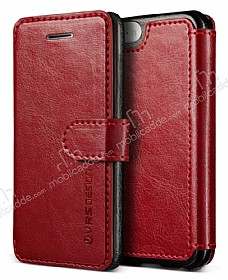Verus Dandy Layered Leather iPhone SE / 5 / 5S K�rm�z� K�l�f
