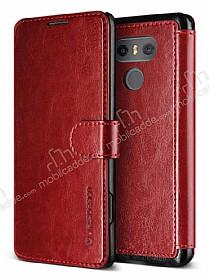 Verus Dandy Layered Leather LG G6 Kırmızı Kılıf