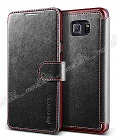 Verus Dandy Layered Leather Samsung Galaxy Note 5 Cüzdanlı Kapaklı Siyah Kılıf