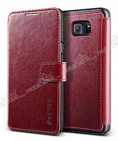 Verus Dandy Layered Leather Samsung Galaxy Note 5 Cüzdanlı Kapaklı Kırmızı Kılıf