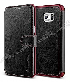 Verus Dandy Layered Leather Samsung Galaxy S6 Edge Plus Siyah Kılıf