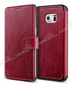 Verus Dandy Layered Leather Samsung Galaxy S6 Edge Plus Bordo Kılıf