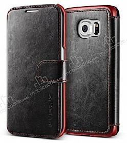 Verus Dandy Layered Leather Samsung Galaxy S6 Siyah Kılıf