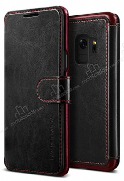 VRS Design Dandy Layered Leather Samsung Galaxy S9 Siyah Kılıf