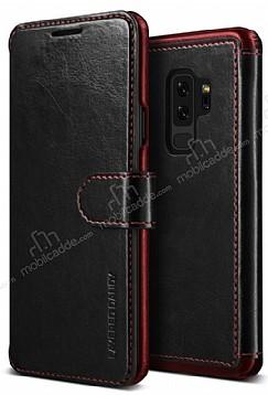 VRS Dandy Layered Leather Samsung Galaxy S9 Plus Siyah Kılıf