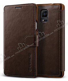 Verus Dandy Layered Leather Samsung N9100 Galaxy Note 4 Kahverengi Kılıf