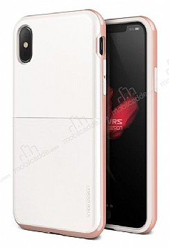 VRS Design High Pro Shield iPhone X White-Rose Gold Kılıf