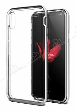 VRS Design Crystal Bumper iPhone X Silver Kılıf