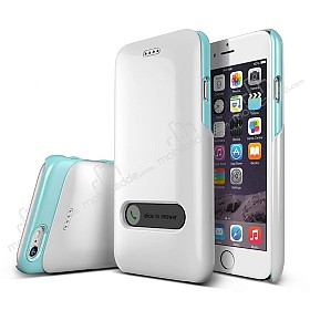 Verus Slim Hard Slide iPhone 6 / 6S Turquoise Blue & White Kılıf