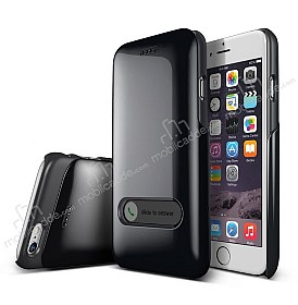 Verus Slim Hard Slide iPhone 6 / 6S Charcoal Black K�l�f