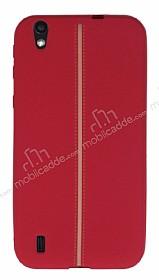 Vestel Venus 5000 Kadife Dokulu Kırmızı Silikon Kılıf
