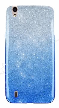 Vestel Venus 5530 Simli Mavi Silikon Kılıf