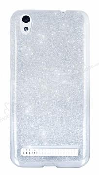 Vestel Venus V3 5010 Simli Silver Silikon Kılıf
