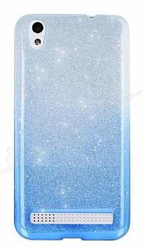Vestel Venus V3 5010 Simli Mavi Silikon Kılıf