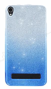 Vestel Venus V3 5020 Simli Mavi Silikon Kılıf