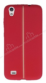 Vestel Venus V3 5040 Kadife Dokulu Kırmızı Silikon Kılıf
