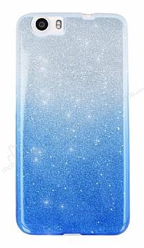 Vestel Venus V3 5070 Simli Mavi Silikon Kılıf