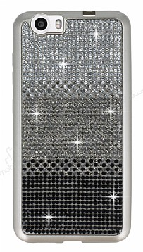 Vestel Venus V3 5070 Taşlı Geçişli Siyah Silikon Kılıf