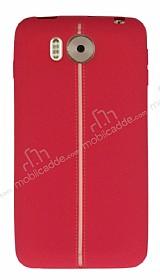 Vestel Venus V3 5580 Kadife Dokulu Kırmızı Silikon Kılıf