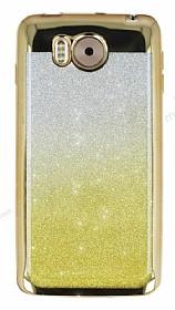 Vestel Venus V3 5580 Simli Parlak Gold Silikon Kılıf
