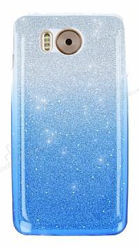 Vestel Venus V3 5580 Simli Mavi Silikon Kılıf