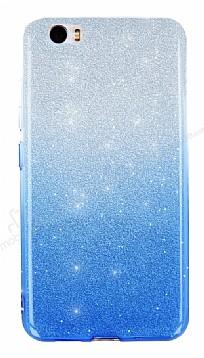 Vestel Venus Z10 Simli Mavi Silikon Kılıf