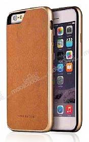 Viva Madrid Avion Classical iPhone 6 / 6S Metal Kenarlı Gold Deri Kılıf