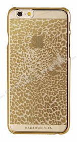 Viva Madrid iPhone 6 / 6S Leopar Gold �effaf Rubber K�l�f