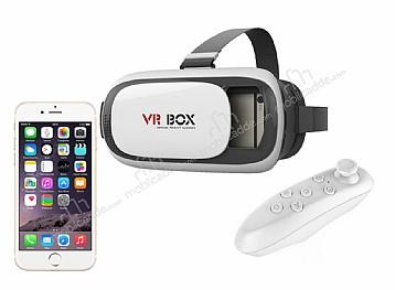 VR BOX iPhone 6 Plus / 6S Plus Bluetooth Kontrol Kumandalı 3D Sanal Gerçeklik Gözlüğü