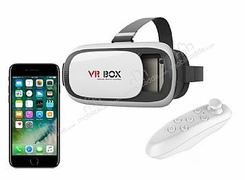 VR BOX iPhone 7 Bluetooth Kontrol Kumandalı 3D Sanal Gerçeklik Gözlüğü
