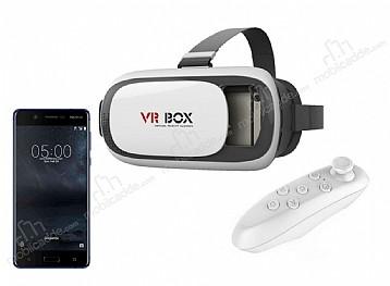 VR BOX Nokia 5 Bluetooth Kontrol Kumandalı 3D Sanal Gerçeklik Gözlüğü