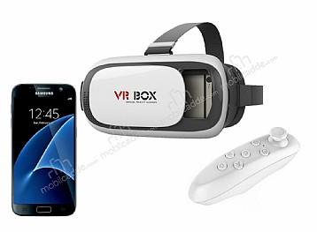 VR BOX Samsung Galaxy S7 Bluetooth Kontrol Kumandalı 3D Sanal Gerçeklik Gözlüğü
