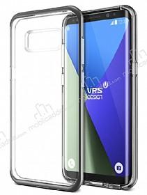 VRS Design Crystal Bumper Samsung Galaxy S8 Dark Silver Kılıf