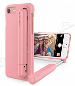 VRS Design Cue Stick iPhone 7 Plus Selfie �ubuklu Pembe K�l�f