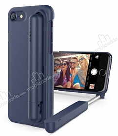 VRS Design Cue Stick iPhone 7 Selfie Çubuklu Night Blue Kılıf