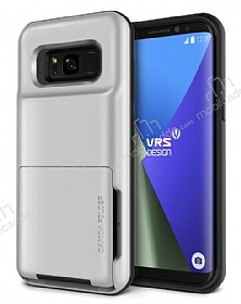VRS Design Damda Folder Samsung Galaxy S8 Light Silver Kılıf