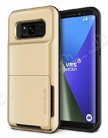 VRS Design Damda Folder Samsung Galaxy S8 Shine Gold Kılıf