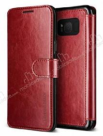 VRS Design Dandy Layered Leather Samsung Galaxy S8 Bordo Kılıf