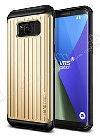 VRS Design Hard Drop Waved Samsung Galaxy S8 Shine Gold Kılıf