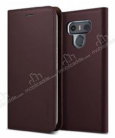 VRS Design Native Diary LG G6 Gerçek Deri Bordo Kılıf
