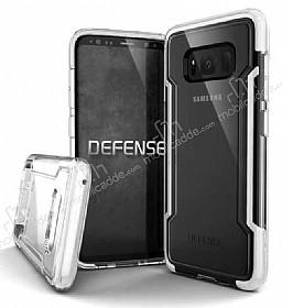 X-Doria Clear Samsung Galaxy S8 Ultra Koruma Beyaz Kılıf