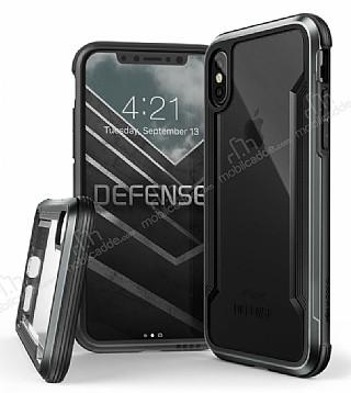 X-Doria Defense Shield iPhone X Ultra Koruma Dark Silver Kılıf