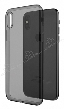 X-Doria Gel Jacket iPhone X Şeffaf Siyah Silikon Kılıf