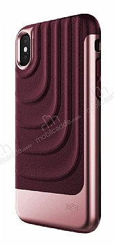 X-Doria Spartan iPhone X Ultra Koruma Mor Gerçek Deri Kılıf