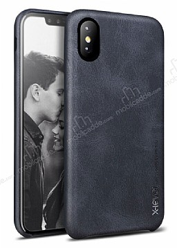 X-Level Vintage iPhone X / XS Deri Siyah Rubber Kılıf