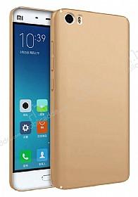 Xiaomi Mi 5s Tam Kenar Koruma Gold Rubber Kılıf